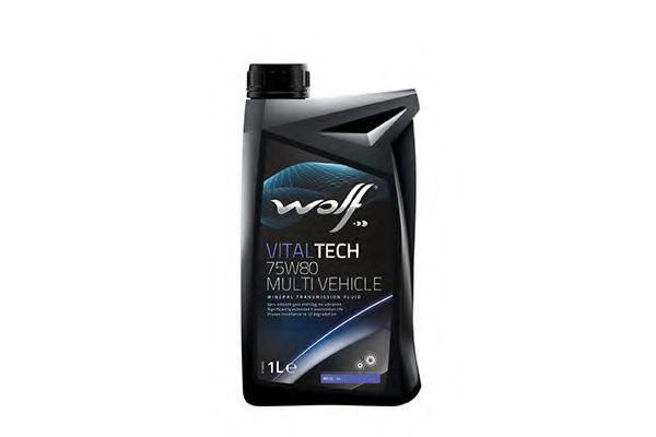 Трансмиссионное масло Wolf VitalTech 75W-80 Multi Vehicle 1л WOLF 8303609