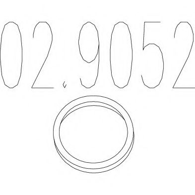 Монтажное кольцо выхлопной системы  арт. 029052