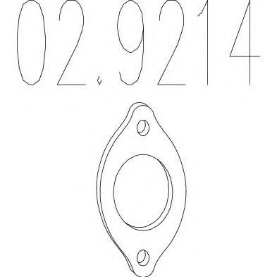 Монтажное кольцо выхлопной системы  арт. 029214