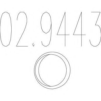 Монтажное кольцо выхлопной системы  арт. 029443