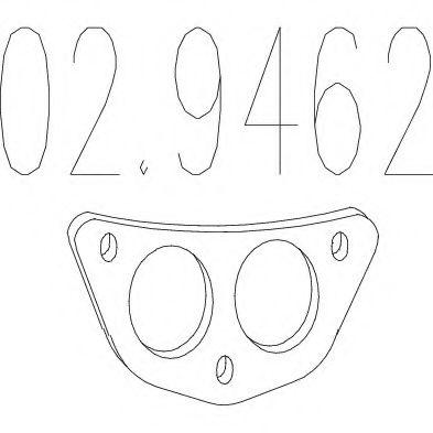 Монтажное кольцо выхлопной системы  арт. 029462