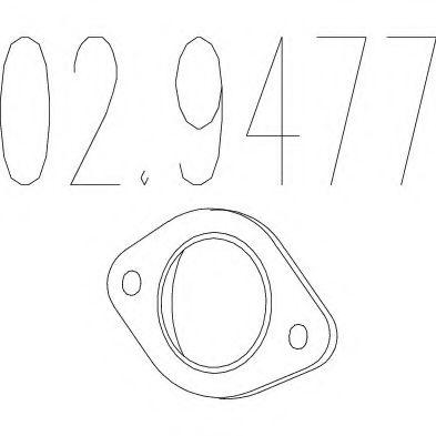 Монтажное кольцо выхлопной системы  арт. 029477