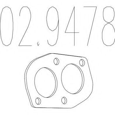 Монтажное кольцо выхлопной системы  арт. 029478