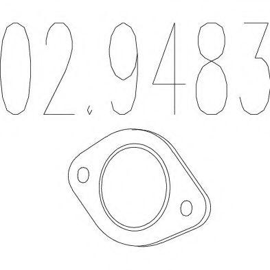 Монтажное кольцо выхлопной системы  арт. 029483