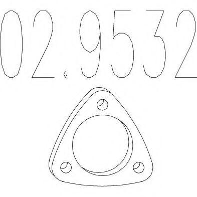 Монтажное кольцо выхлопной системы  арт. 029532
