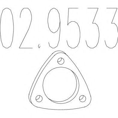 Монтажное кольцо выхлопной системы  арт. 029533