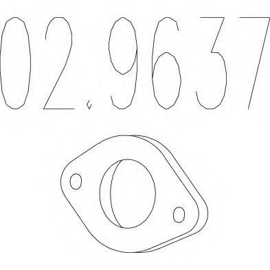 Монтажное кольцо выхлопной системы  арт. 029637