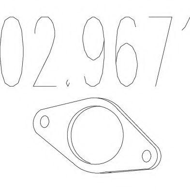 Монтажное кольцо выхлопной системы  арт. 029671