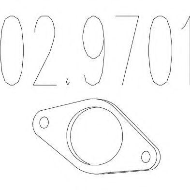 Монтажное кольцо выхлопной системы  арт. 029701