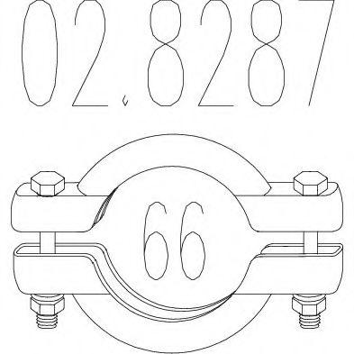 Хомут выхлопной системы биконический (Диаметр 66 мм)  арт. 028287
