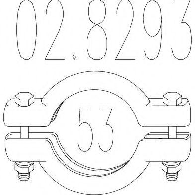 Хомут выхлопной системы биконический (Диаметр 53 мм)  арт. 028293