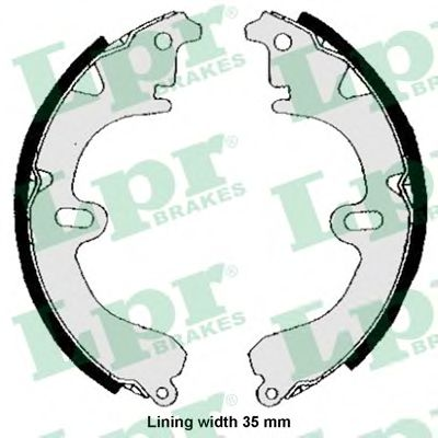 04530  LPR - Гальмівні колодки до барабанів LPR 04530