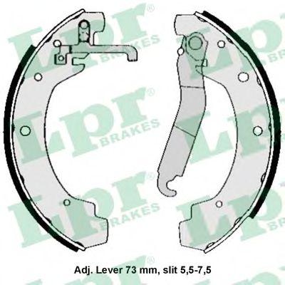 04570  LPR - Гальмівні колодки до барабанів LPR 04570