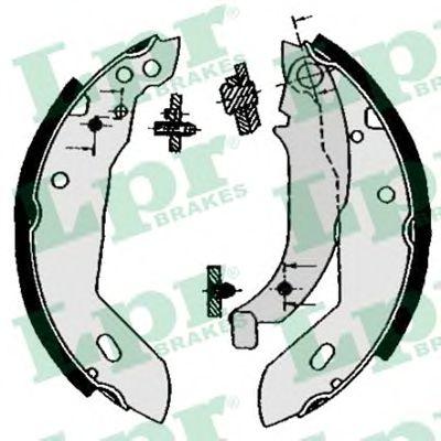 04670  LPR - Гальмівні колодки до барабанів LPR 04670