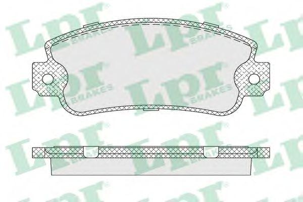 Тормозные колодки  арт. 05P007