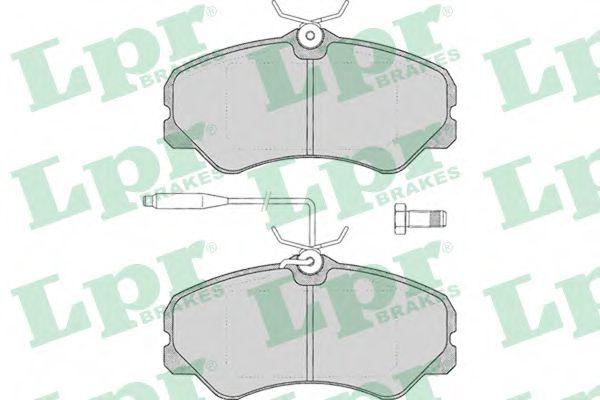 05P011  LPR - Гальмівні колодки до дисків  арт. 05P011