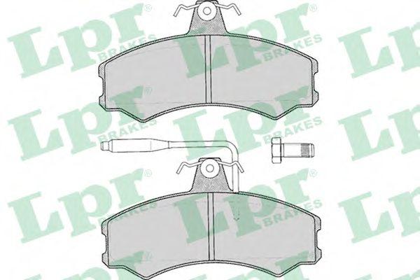 05P012  LPR - Гальмівні колодки до дисків  арт. 05P012
