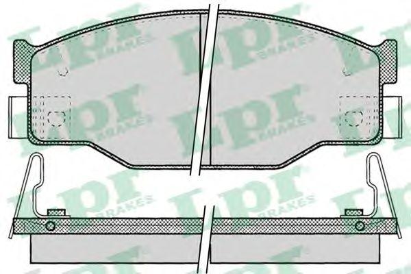 Тормозные колодки дисковые  арт. 05P054
