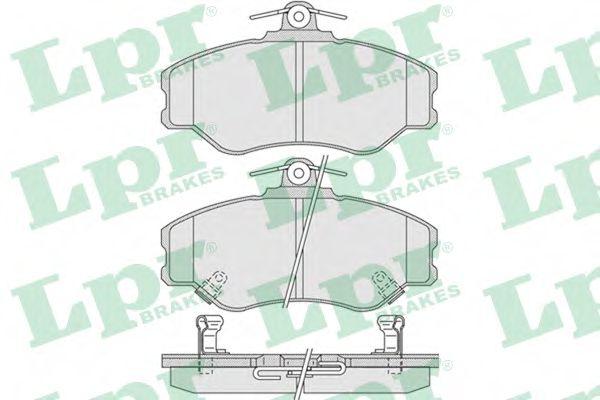 05P1009  LPR - Гальмівні колодки до дисків  арт. 05P1009