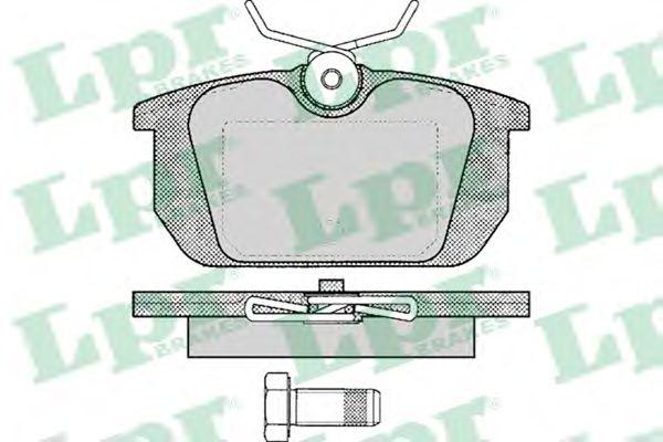 SF2384 Тормозные колодки  арт. 05P101