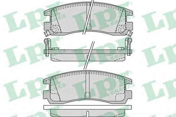 Тормозные колодки дисковые  арт. 05P1031