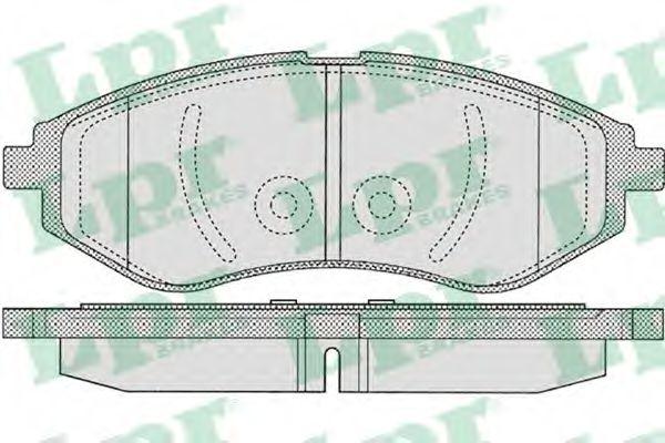 Колодка торм. CHEVROLET AVEO передн. (пр-во LPR)                                                      арт. 05P1080