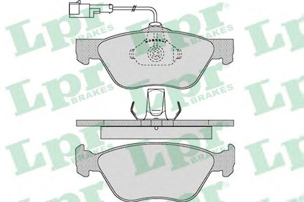 Комплект тормозных колодок, дисковый тормоз  арт. 05P1098