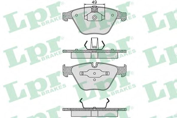 05P1193  LPR - Гальмівні колодки до дисків  арт. 05P1193