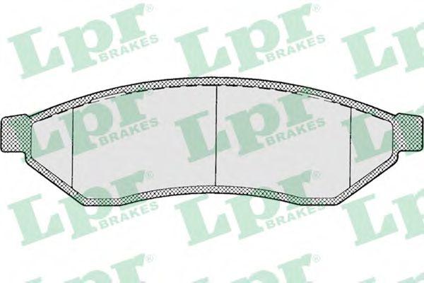 05P1198  LPR - Гальмівні колодки до дисків  арт. 05P1198