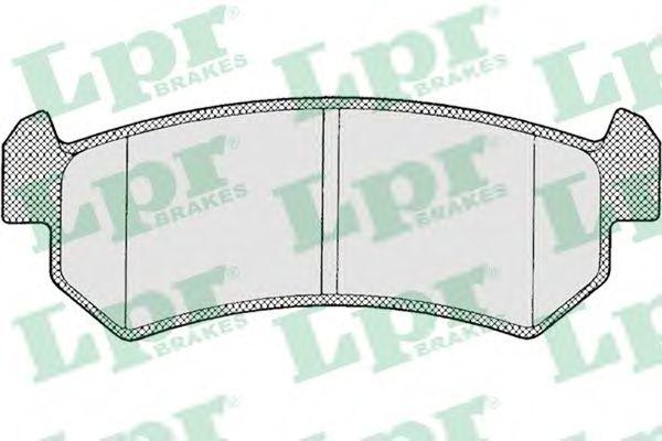 05P1199  LPR - Гальмівні колодки до дисків  арт. 05P1199
