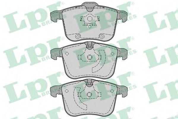 Тормозные колодки Колодки тормозные дисковые передние  LPR арт. 05P1244