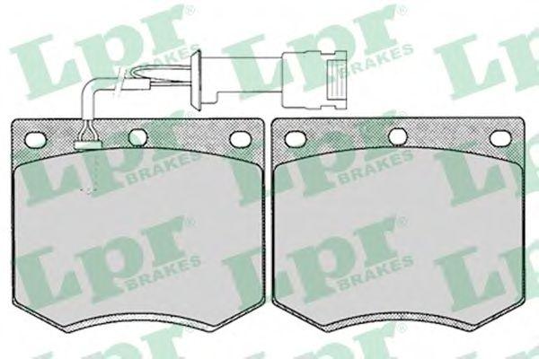 Тормозные колодки дисковые  арт. 05P125