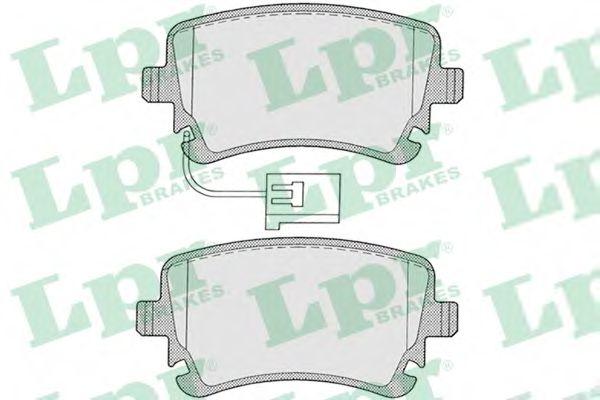 Комплект тормозных колодок, дисковый тормоз  арт. 05P1256