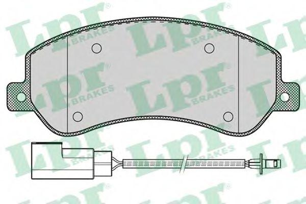 Brake pad set LPR 05P1260