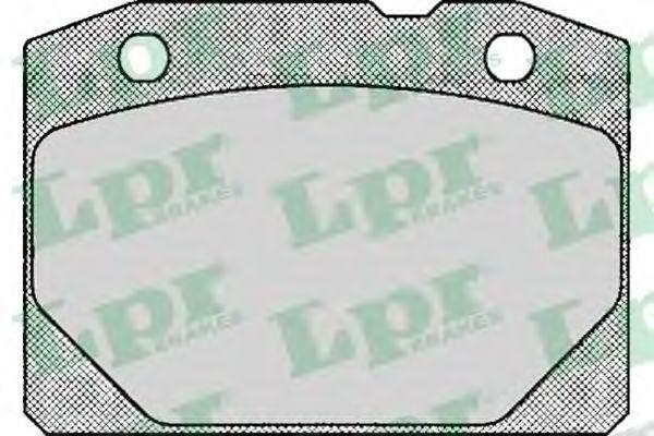 SF2187 Тормозные колодки передние Lada 2101-2107 LPR 05P127