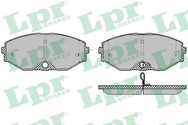Тормозные колодки дисковые  арт. 05P1357