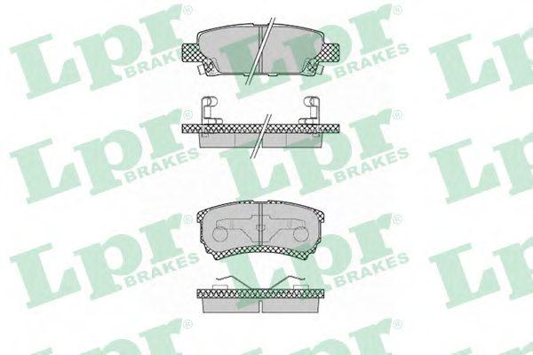 Тормозные колодки дисковые  арт. 05P1373