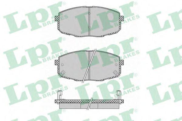 05P1375  LPR - Гальмівні колодки до дисків (F, V, з датчиком)  арт. 05P1375