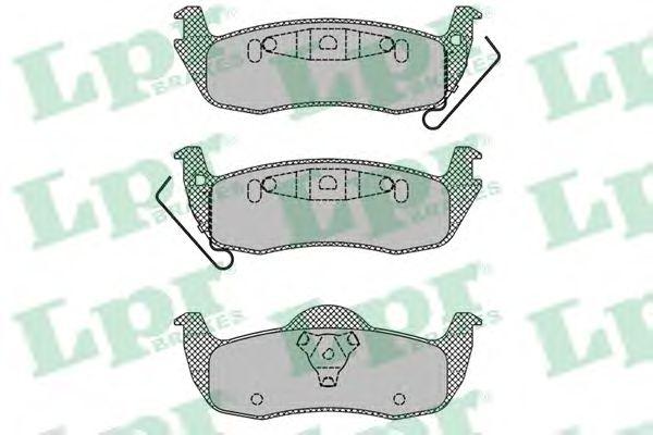 Комплект тормозных колодок, дисковый тормоз  арт. 05P1405