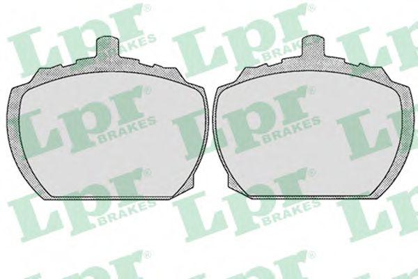 05P143  LPR - Гальмівні колодки до дисків (F, S)  арт. 05P143