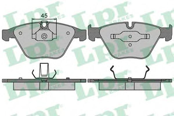 05P1510  LPR - Гальмівні колодки до дисків  арт. 05P1510