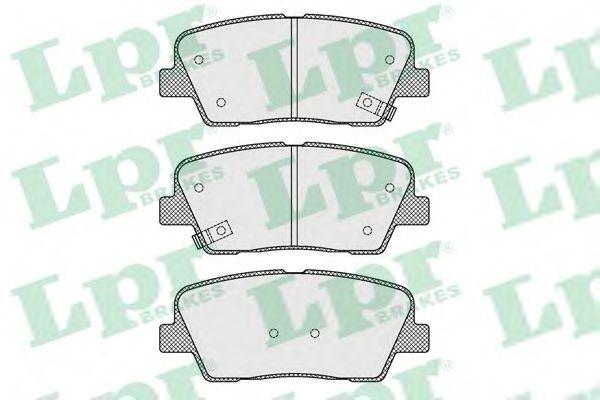 05P1625  LPR - Гальмівні колодки до дисків  арт. 05P1625