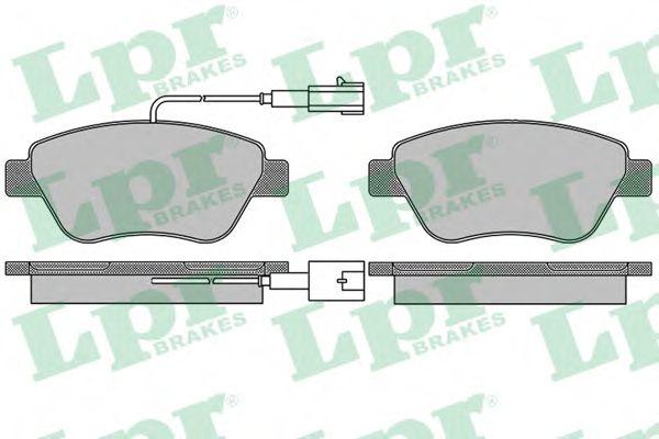 Тормозные колодки дисковые  арт. 05P1656