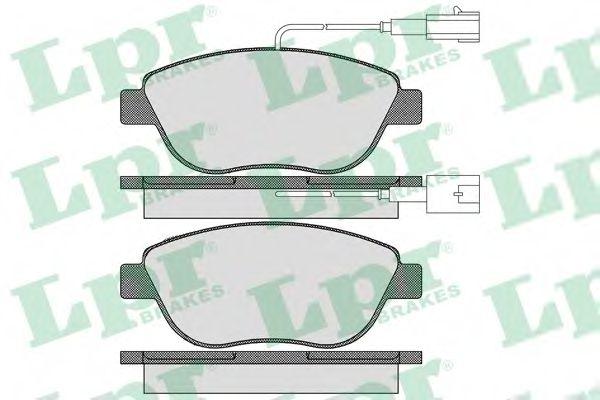 Тормозные колодки дисковые  арт. 05P1657