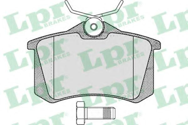 Комплект тормозных колодок, дисковый тормоз LPR арт. 05P1788