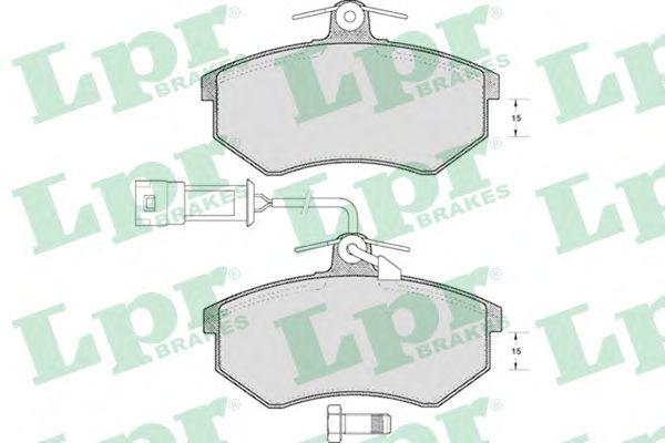 05P221  LPR - Гальмівні колодки до дисків (F, з датчиком)  арт. 05P221
