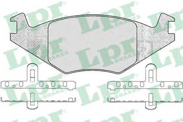 SF2372 Тормозные колодки LPR 05P223