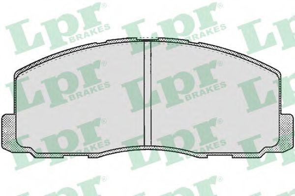 05P260  LPR - Гальмівні колодки до дисків (F, S)  арт. 05P260