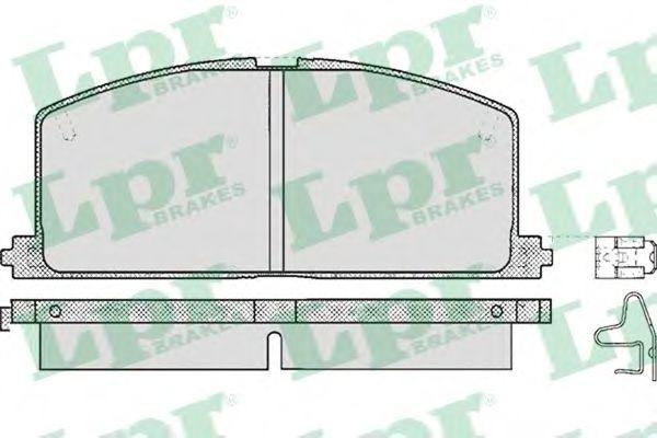 SF2395 Тормозные колодки LPR 05P268