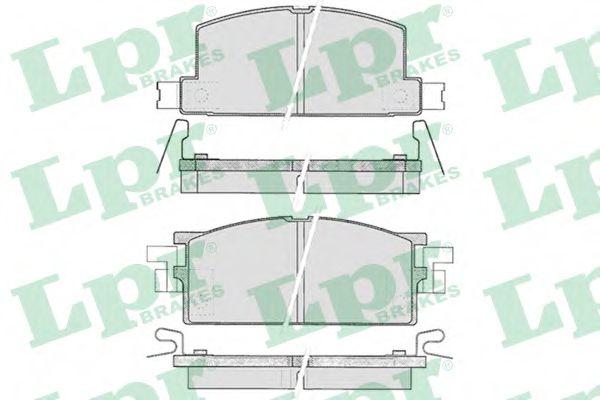 Колодки гальмівні дискові  арт. 05P287